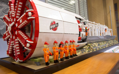 FIRST Lego League competition: a working two-meter long replica of a Crossrail TBM