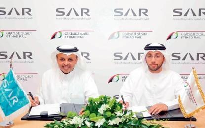 Etihad Rail, Saudi Railway sign agreement
