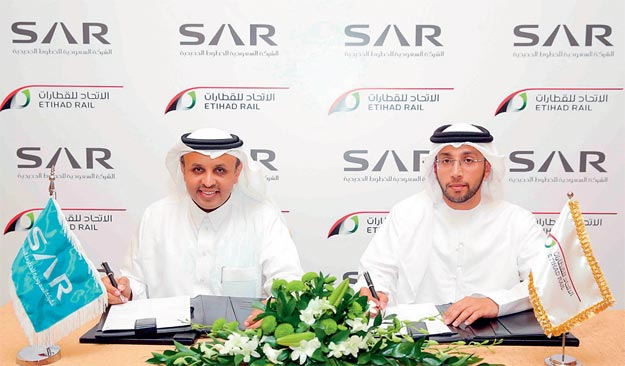 Etihad Rail, Saudi Railway sign agreement