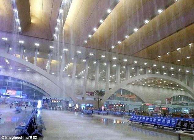 €500mln station flooded after rainstorm. Unsealed ceiling?