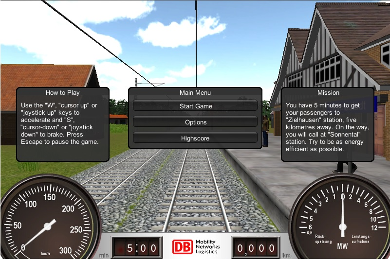 Check out your driving skills: DB Energy-Saving Trainer